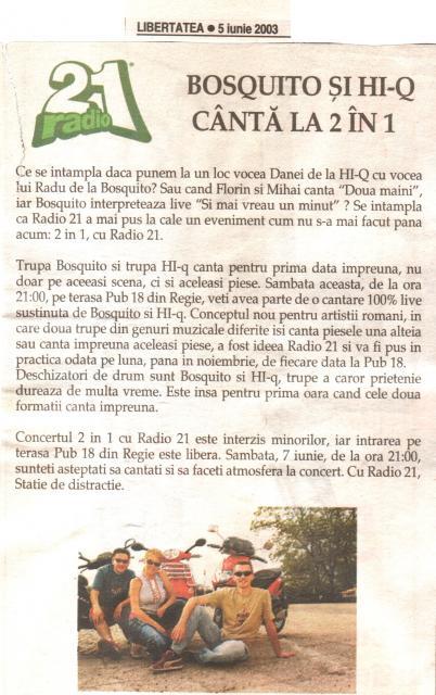 Libertatea - 2 in 1 Bosquito&HiQ