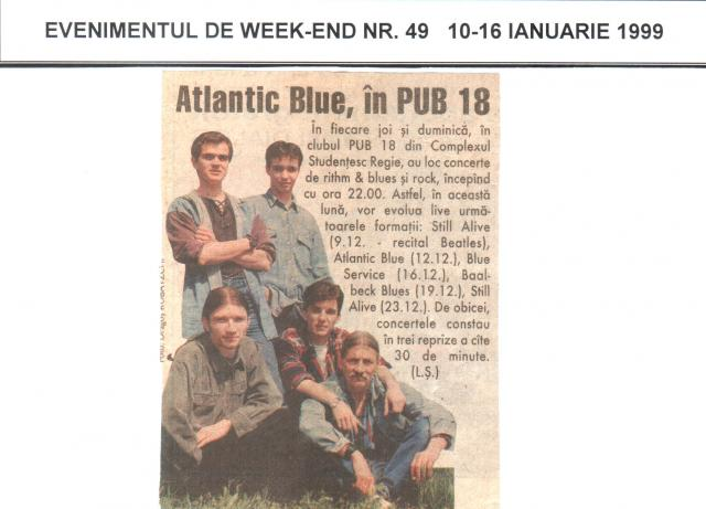 Ev. de weekend - Atlantic Blue