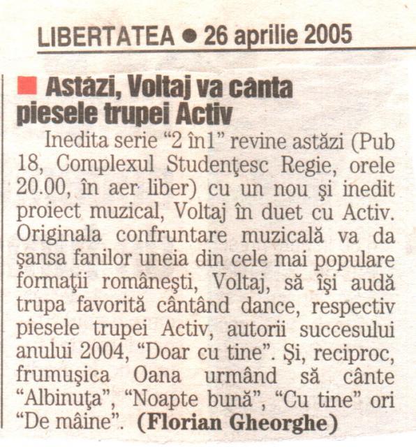 Libertatea - 2 in 1 Voltaj&Activ