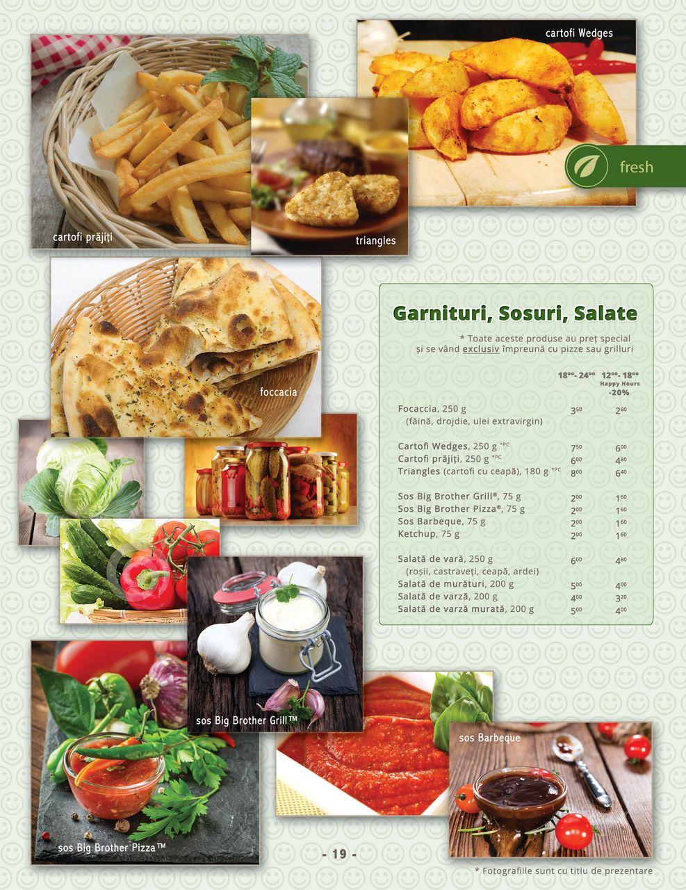 Garnituri, sosuri si salate